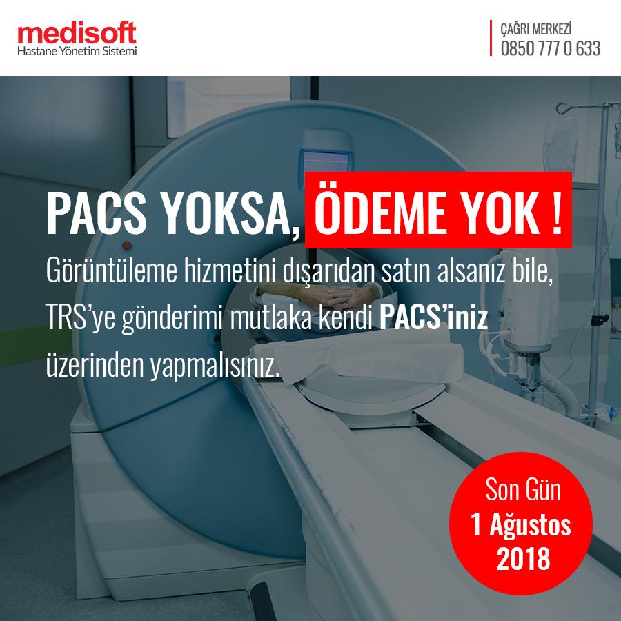 Medipacs Teletıp + TRS'ye Veri Göndermeye Başladı