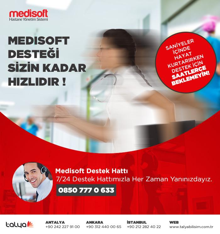 medisoft 7/24 destek sağlar